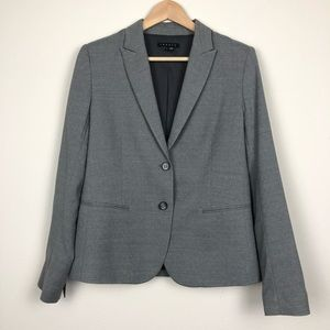 Theory Gray Wool Structured Button Blazer